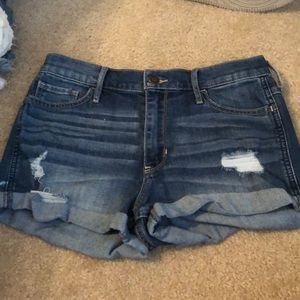 Hollister Shorts - Hollister high rise jean shorts
